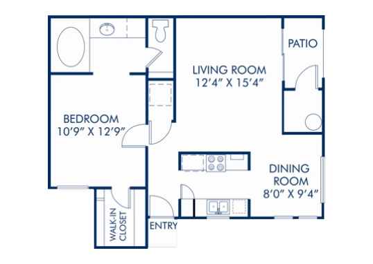 Floorplan for Loretto Heights Apartments
