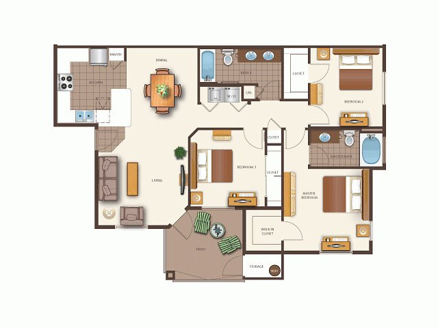 Floor Plans at Tribeca North Luxury Apartments