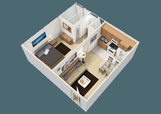 Floorplan for Boulder Palms Apartments