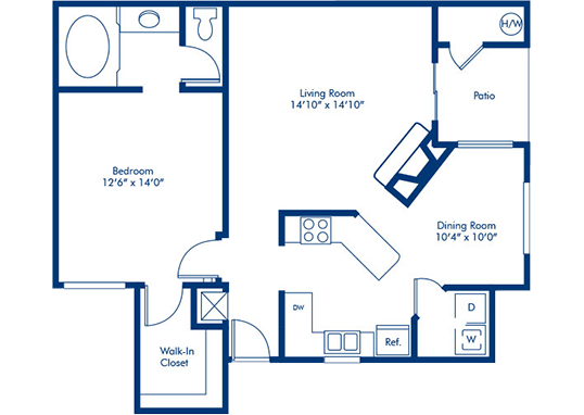 Floorplan for Torreyana Apartments