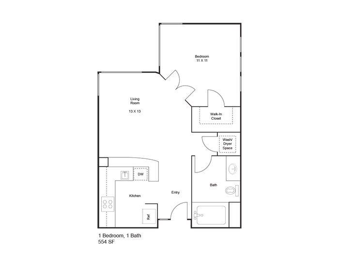 Floor Plans at Bridgecourt Apartments