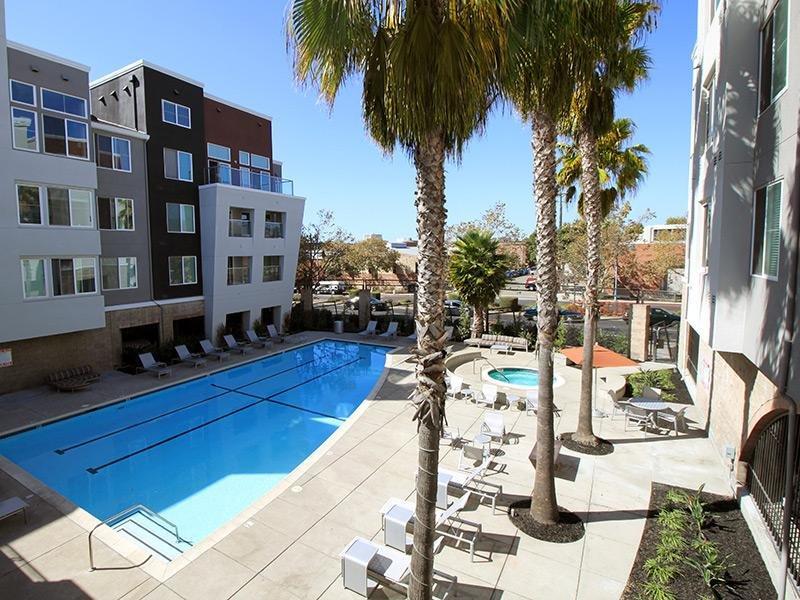 Pool - Bridgecourt Apartments in Emeryville, CA