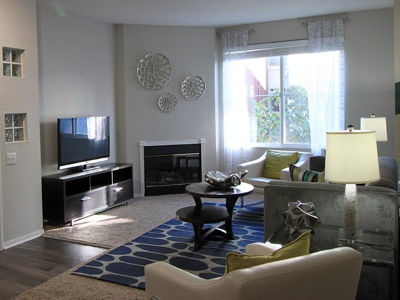 Living Room - Emeryville Apartments