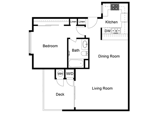 Floorplan for Parc Claremont Apartments