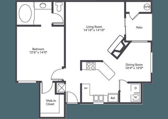 Floorplan for Horizon Apartments
