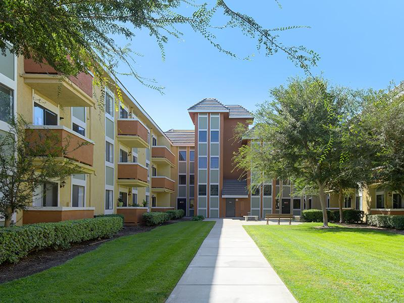 The Courtyard Senior Apartments in Fontana, CA