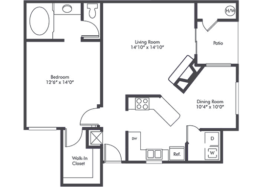 Floorplan for Camden Village Apartments