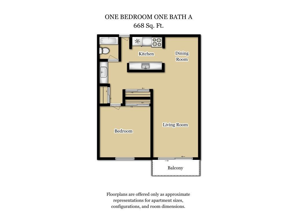 Floor Plans at Camden Village Apartments