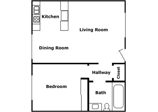 Floorplan for Casanova Grove Apartments