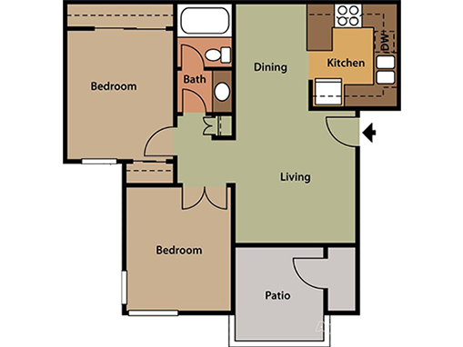 Floorplan for The Springs CA Apartments